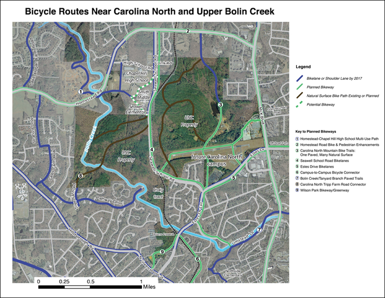 Bike Transportation Planning for Bolin Forest and Carolina North